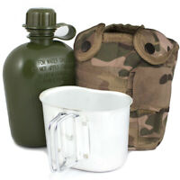Army Water Bottle, Mug & Pouch Set Canteen Camping Hiking Military MTP Multicam