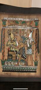 Eyptian Papyrus Paintings X4