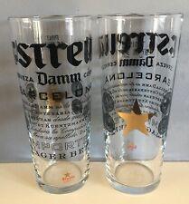 More details for 2 x new estrella damm pint glasses