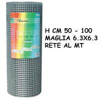 RETE METALLICA ZINCATA ELETTROSALDATA 6.3X6.3 RECINZIONE GABBIE CONIGLI 22724V