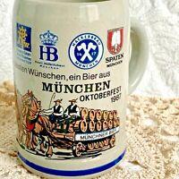 German Beer Mug Stein Munchen Oktoberfest 1987 Handmade King Stein 0.5L