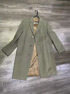 Aquascutum Olive green Trench Coat with Wool Lining-