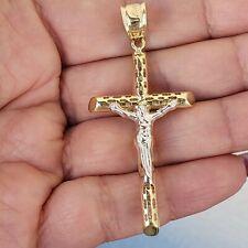 10k Yellow Gold Jesus Crucifix Cross Pendant Charm