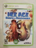 Ice Age Dawn Of The Dinosaurs Microsoft Xbox 360 Video Game Complete TESTED RARE