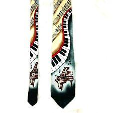 Florence & K Inc Mens Piano Music Note Neck Tie Novelty Print Musician Teacher