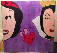 Snow White Evil Queen - Pop Abstract Art - Original Painting 12x12 Acrylic