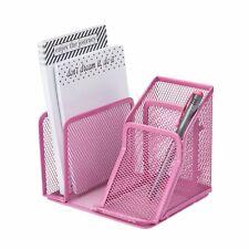 Mesh Desktop Organizer Pink