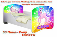 Children Kids Bed Mattress Delivery Toddler 18. Pony on a Rainbow No 140x70