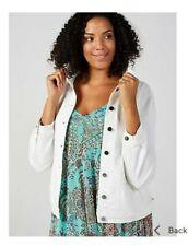 Nina Leonard Long Sleeve Stretch Denim Jacket Ivory Medium RRP £49