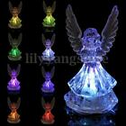 Color Changing Statue Angel Wings Garden Stake Outdoor Lamp Yard Decor LED Light