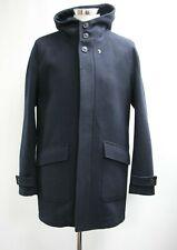 Men's Farah Half lined Navy Blue Hooded Dufflecoat (M)..Ref: 7132