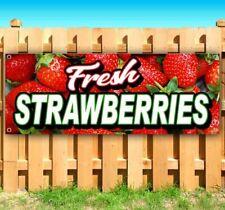 New Listingfresh Strawberries Advertising Vinyl Banner Flag Sign Many Sizes Fruit Food