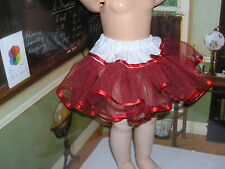 """Red Net Petticoat  22-23"""" Doll clothes fits Ideal Saucy Walker or Pedigree"""
