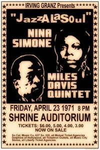 Nina Simone 1971 CONCERT JAZZ  METAL TIN SIGN POSTER WALL PLAQUE