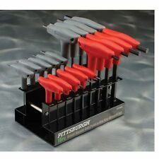 New 18 Pc SAE & Metric T Handle Allen Wrench Ball End Hex Key Set Free Shipping