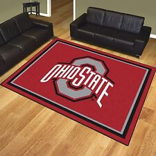 Ohio State Buckeyes 8' X 10' Decorative Ultra Plush Area Rug