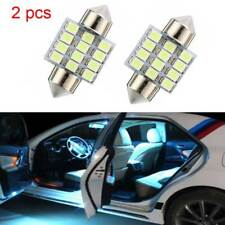 2pcs  ice blue 31mm 12SMD Car Interior Read Door Dome Map LED lights Lamp Bulb