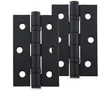 "Door Hinge 3"" 76mm Ball Bearing Butt Hinges Black Internal Doors Pair"