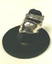 """Sterling silver spoon ring, size 6 1/2, monogrammed """"K"""""""