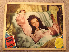 GONE WITH THE WIND - ORIGINAL LOBBY CARD - CLARK GABLE VIVIEN LEIGH .