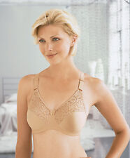 GLAMORISE Bra 52F 52G 52 F-G STRETCH 2-In-1 Straps! QUICK DRY Lace 1906 Cafe NEW