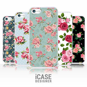 Floral Rose Flower Vintage Shabby Chic Phone Case For iPhone 4 4s 5 5s 5c & iPod