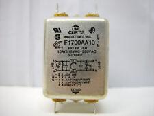 Curtis Industries F1700AA10 RFI Filter 10A/115-250VAC