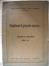 Annuario Scolastico 1954 1955 Scuola Media DANTE ALIGHIERI di AVELLINO Irpinia