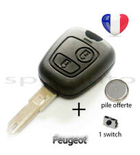 plip coque clé Peugeot 106 206 206+ 206CC 306 107 207 307 + pile + 1 switch