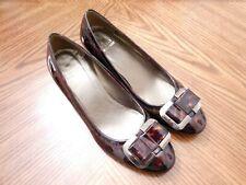 STUART WEITZMAN Tortoise Patent Leather Med Heel Wedge Pumps Shoes Size 7M