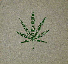 Go green, Kayak, Kayaking, canoeing, marihuana, cannabis- SCREEN PRINTED T-SHIRT