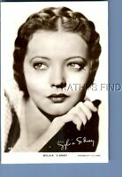 REAL PHOTO RPPC T_1158 PORTRAIT OF SYLVIA SIDNEY