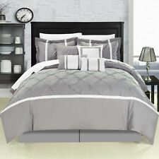 Chic Home Vermont Grey Comforter Bed In A Bag Set