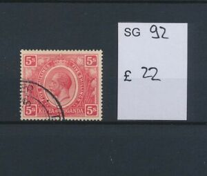LO45174 Kenya Uganda king George V fine lot used cv 22 �