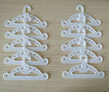 10 White Clothes Hangers Gift Doll Accessory Fit For 18'' American Girl
