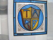 Handwerkerzeichen Zunft Symbole Bleiverglasung Glasbild Bleirahmen Fensterbild G