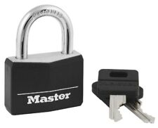 """Master Lock 141D Black 1-9/16"""" Wide Covered Solid Body Padlock"""