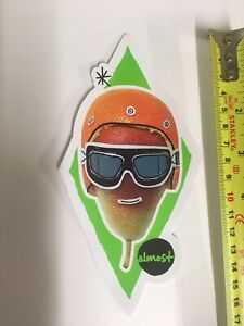 Almost Skateboards Pear Skateboard Sticker 10cm