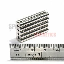 100 Magnets 4x3 mm Neodymium Disc small round craft fridge magnet 4mm dia x 3mm