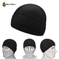 Men Cycling Skull Cap Under Helmet Fleece Hat Beanie Windstopper Thermal Winter