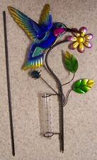 "Rain Gauge Humnmingbird NEW metal with plastic tube measures 5"" - 12.5 cm #1"