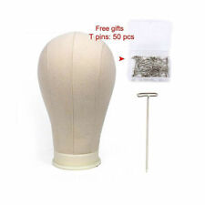 22'' Canvas Block Head For Wig Making Display With Mount Hole Mannequin Head