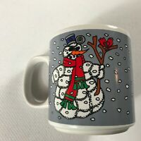 Snowman Coffee Mug VTG Cup Grant Howard Cardinal Funny Winter Christmas Holidays