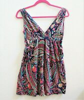 Zara Collection Floral Mini Sun Dress Small Sleeveless V-Neck Women Summer Party