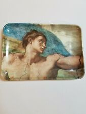 "Trinket Tray Made In Italy Michelangelo Sculpture Melamine Plastic Euc 4"" x 6"""