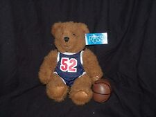 Russ Berrie Hoops 'N Dreams Hoopster Brown Teddy Bear 52 Jersey Plush 7""