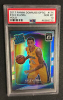 2017-18 Donruss Optic KYLE KUZMA HOLO SILVER PRIZM LAKERS Rookie 🔥PSA 10🔥