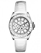 GUESS Collection GC white Leather Women Watch i29006M1 ,comes with Black GC box