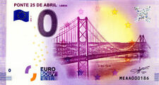 PORTUGAL Lisbonne, Ponte 25 de Abril, N° de la 2ème, 2018, Billet 0 € Souvenir