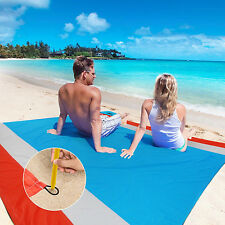 WolfWise Foldable Picnic Blanket Beach Mat with Waterproof Backing 79 x 79 Inch